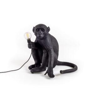 The Monkey Lamp Black Sitting Version