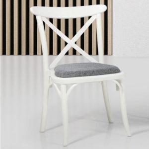 Sedia in polipropilene Capri colore bianco, crema, caffè e nero Teypat
