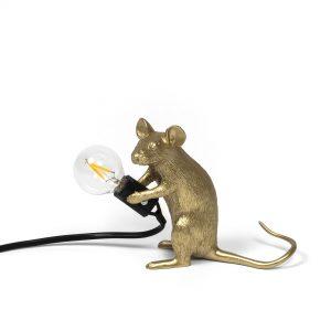 Lampada in Resina Mouse Lamp Gold Seletti