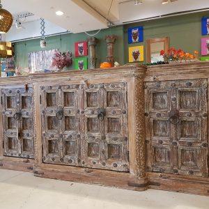 Credenza INDIANA antica in legno Teak a 4 ante Teypat – Non Disponibile