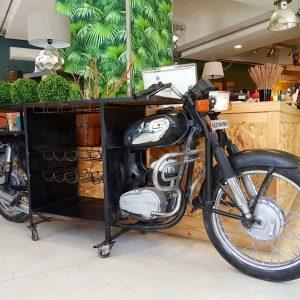 Mobile BAR creato da sezione di motocicletta originale INDIANA