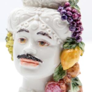 Testa di Moro Siciliana in Porcellana TM10M