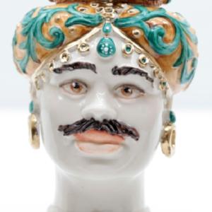 Testa di Moro Siciliana in Porcellana TM14M