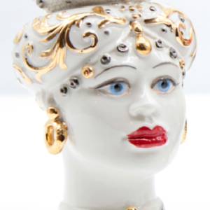 Testa di Moro Siciliana in Porcellana TM15F
