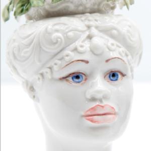 Testa di Moro Siciliana in Porcellana TM19F