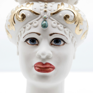 Testa di Moro Siciliana in Porcellana TM40