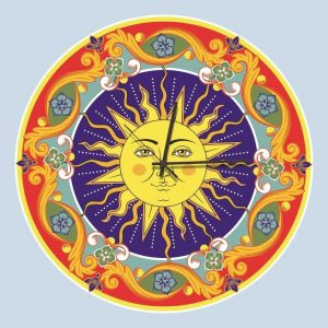 Stampa su Tela Orologio Ceramica Siciliana 10619 misure 50×50