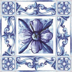 Stampa su Tela  Orologio Ceramica Siciliana 10621 misure 50×50
