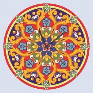 Stampa su Tela Orologio Ceramica Siciliana 10625 misure 50×50