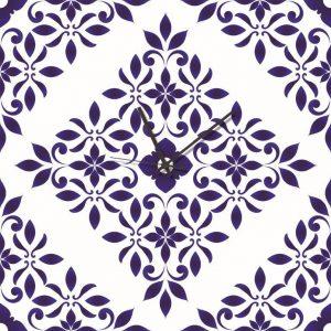 Stampa su Tela Orologio Ceramica Siciliana 10628 misure 50×50