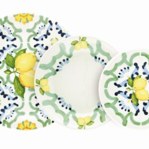Set 18 pz in Ceramica Sottosmalto Amalfi Villa Altachiara 83034